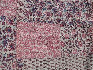 Indian Block Print Cotton Bedspread