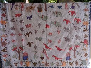 Hand Embroidery Patchwork Bedspread
