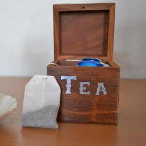 Wooden Tea Bag Box