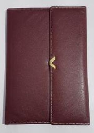 Faux Leather Conference Folder