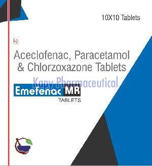 Acelofenac Paracetamol Chloroxazone 250 mg