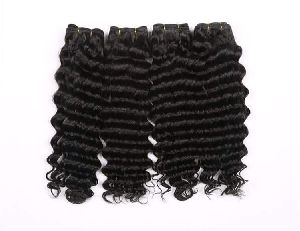 Natural Remy Curly Hair Weft