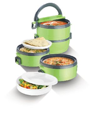 Jayco Homemeal Two Case Green Tiffin Box