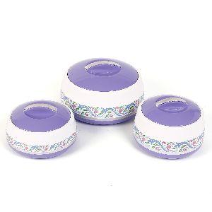 Jayco Hot And Hot Three Piece Purple Casserole Set