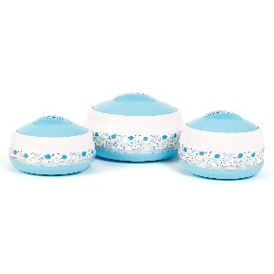 Jayco Hot And Hot Three Piece Sky Blue Casserole Set