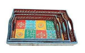 Wooden Handicraft Serving Tray