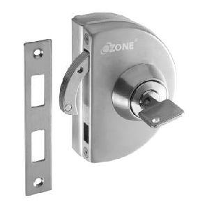 Opl-4a-n-s Strike Plate Glass Door Lock