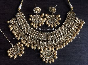 Pearl Kundan Imitation Necklace Set