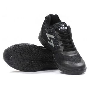 Sagma Mens Black Silver Breathable Shoes