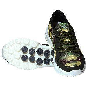 Sagma Mens Dark Green Breathable Shoes