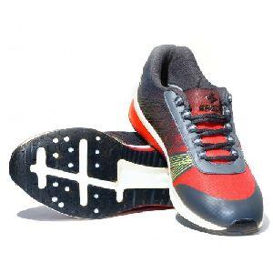 Sagma Mens Red Black Breathable Shoes