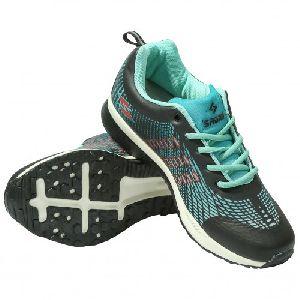 Sagma Mens Seagreen Black Breathable Shoes