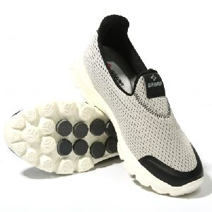 Sagma Mens Silver Breathable Shoes