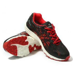 Sagma Womens Red Black Breathable Shoes