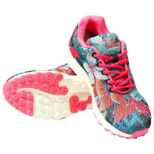 Sagma Womens Seagreen Pink Breathable Shoes