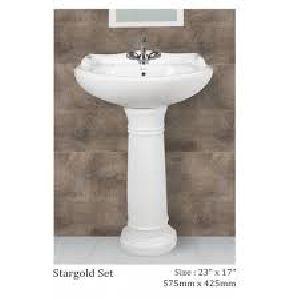 Plain Stargold Pedestal Wash Basin
