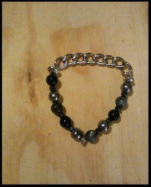 Mens Chain, Onyx Bracelet