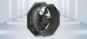 Axial fan with integrated diffuser