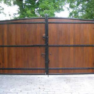 Metal And Wood Gates