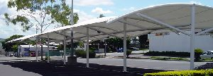 Car Park tensile shade structures