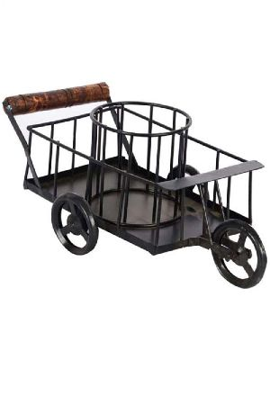 Wooden Iron Trolley