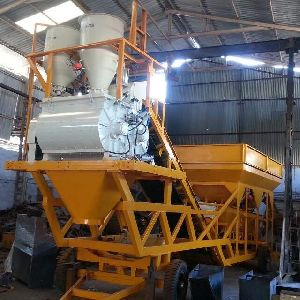 Twin Shaft Type Mobile Concrete Batching Plant