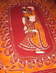 Handmade Batik Tapestry Table Cloth