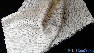 White Textured Eri Silk Khadi Fabric