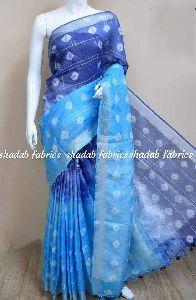 Linen Saree Sebori Print Sarees