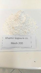 Gypsum Powder And Natural Gypsum Rock
