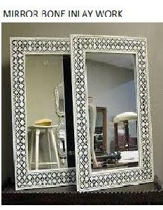 Bone Inlay Wall Mirror
