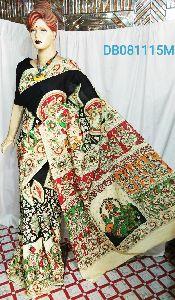 Madhubani Printed Pure Cotton Saree