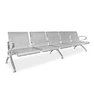 Mild Steel 4 Seater Waiting Chair