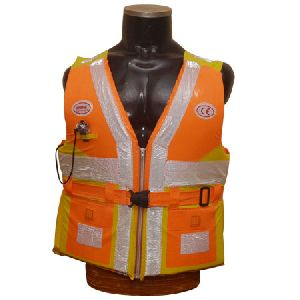 Big Cargo Life Jacket With Chain And Pocket