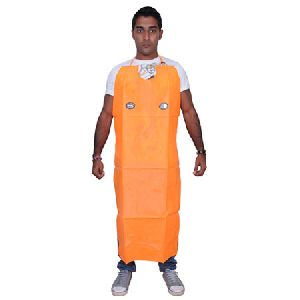 Pvc Apron Orange Fluorescent ( Special With Lock )