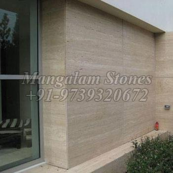 Brown Travertine Wall Claddings