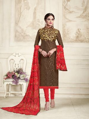 Unstitched Churidar Suit