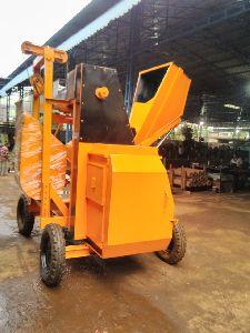 mechanical hopper lift concrete mixture machine