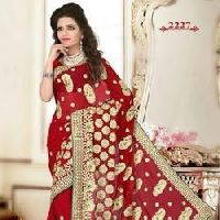 Embroidery Jari Hand Work Saree