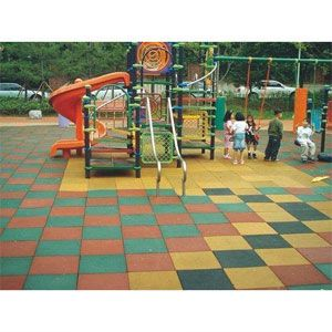 Kids Playground Rubber Flooring Tile