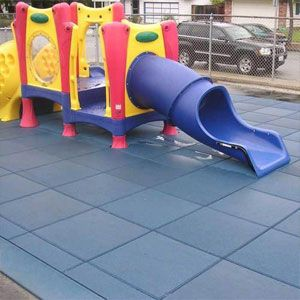 Play Area Rubber Flooring Tile