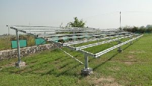 SOLAR MOUNTING DOUBLE POLE STRUCTURE