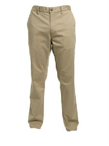 Khaki Woven Semi Formal Trouser