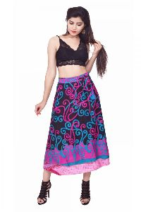 Long Silk Wrap Skirt