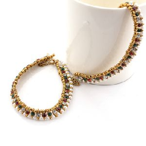 Chain Anklet Foot Jewelry With Pearls Beads For Women