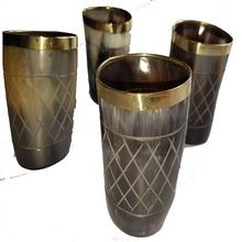 Horn Glass And Mugs