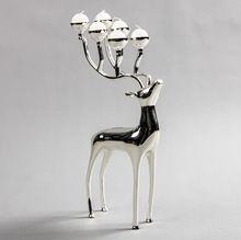 Deer Six T-light Candle Holder