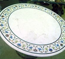 Antique Looking Marble Coffee Tables Top