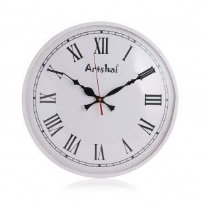 Antique White Colour Metal Wall Clock