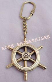 Brass Wheel Key Chain